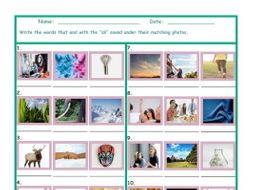 Phonics Final Consonant Cluster SK Photo Worksheet
