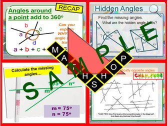 Angles - Vertically Opposite Angles and Missing Angles