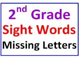 Second Grade Sight Words Missing Letters