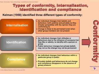 conformity is a type of social The role of social influence processes in social change conformity / majority influence conformity is a type of social influence defined as a change in belief or behavior in response to real or imagined social pressure.