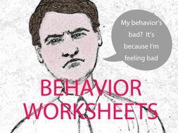 Behavior, Gratitude and Self-esteem Worksheets Bundle (US)