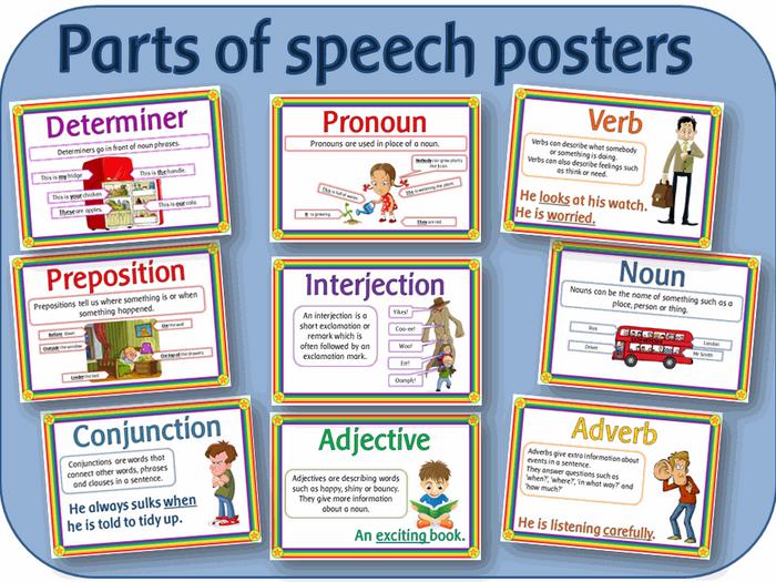 Nouns, Verbs and Adjectives   Free, Language arts and Language