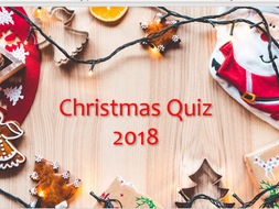 Christmas Quiz for 2018! English Dingbats round, music round and 2018 general knowledge round ...