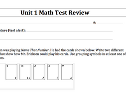 Everyday Math Edm 5th Grade Test Reviews And Answer Keys Units 1 8