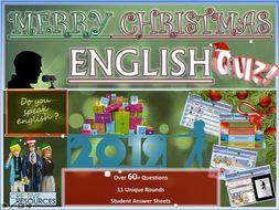 English Christmas Quiz 2019