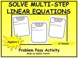 linear equations problem solving