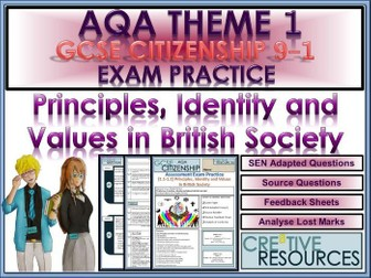 9-1 Citizenship AQA GCSE Exam Assessment: Principles, Identity and Values in British Society.PDF