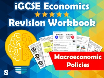 Macroeconomic Policies Revision Guide / Workbook - iGCSE Economics - Fiscal, Monetary, Supply-side..