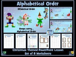 Alphabetical Order - Christmas Themed
