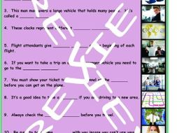 Travel Modes and Things 3 Photo Worksheet Set
