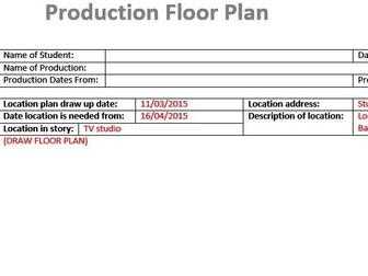 Birds Eye Floor Plan (Film & TV/Media Students)