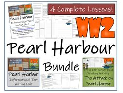 UKS2 History - Pearl Harbour Reading Comprehension & Informational Text Writing Unit Bundle