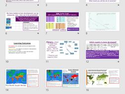 AQA GCSE CHANGING ECONOMIC WORLD: L2 -Development Rankings (Lessons + Resources).