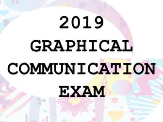 2019 AQA Graphical Communication Exam - Art Graphics
