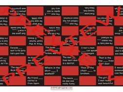 Relative Clauses Checker Board Game