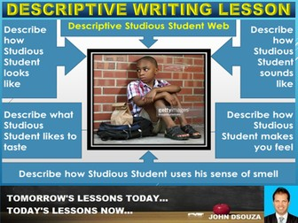 DESCRIPTIVE WRITING: LESSON AND WORKSHEETS