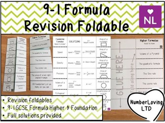 Formula GCSE 9-1 Revision Foldable
