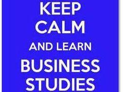 OCR GCSE 9-1 Business 2017 Spec Knowledge Organisers