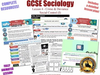 Social Control  (Formal vs Informal)  - Crime & Deviance L4/20 [ AQA GCSE Sociology - 8192] NEW KS4