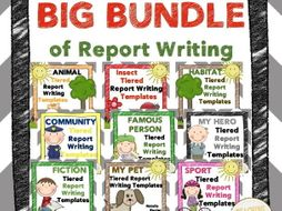 Report Writing: BIG BUNDLE of Tiered Templates