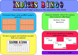 Indices-bingo---index-laws-(multiply--divide-and-brackets).zip