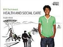 Btec level 2 Health and Social Care Component 2 Learning Aim A Complete