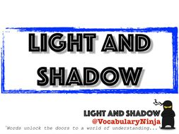 Light and Shadow Topic Vocabulary Pack