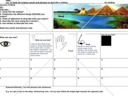 The Egyptian Cinderella resource bundle -descriptive writing
