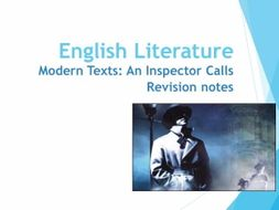 AQA An Inspector Calls Revision Notes