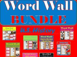 WORD WALL Posters BUNDLE Posters(U.S. History