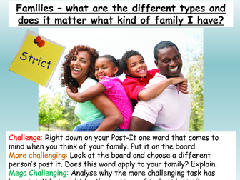 Family types, marriage + diversity PSHE