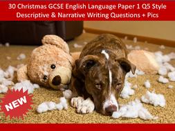 30 More Christmas GCSE English Language P1 Q5 Style Descriptive & Narrative Writing Questions + Pics