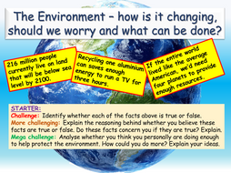 Environment Issues - Global Citizenship