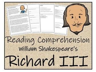 UKS2 Literacy - Richard III Reading Comprehension Activity