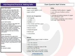 AQA Required Practical 1 - Making Salts