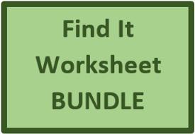 Find It Worksheets in Spanish Bundle