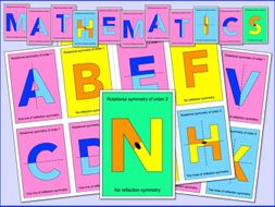 Alphabet Display (Colourful Symmetry letters in different sizes)