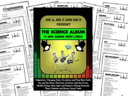The Science Album  (15mp3 Songs and Lyrics) by Mr A, Mr C and Mr D Present