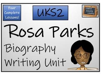 UKS2 Rosa Parks Biography Writing Activity