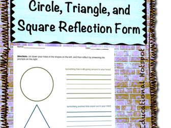 Circle Triangle and Square Reflection Form Template