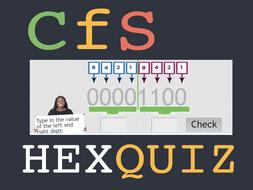 Denary to HEX Interactive HTML5 Quiz