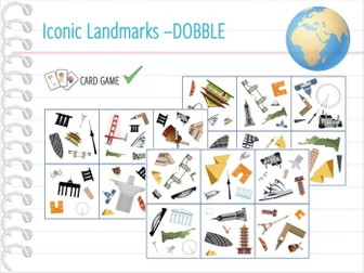 Iconic landmarks of the World - Card Game