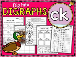 Phonics | Digraph CK | Worksheets