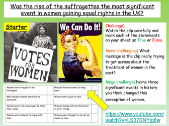 Suffragettes + Women's History