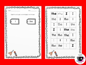 Tricky Words Cut and Stick - Phonics