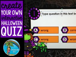 create your own halloween quiz in powerpoint by okinawangirl