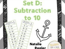 Math Anchors Set D: Subtraction to 10