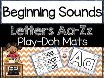Alphabet and Beginning Sound Play Doh Mats