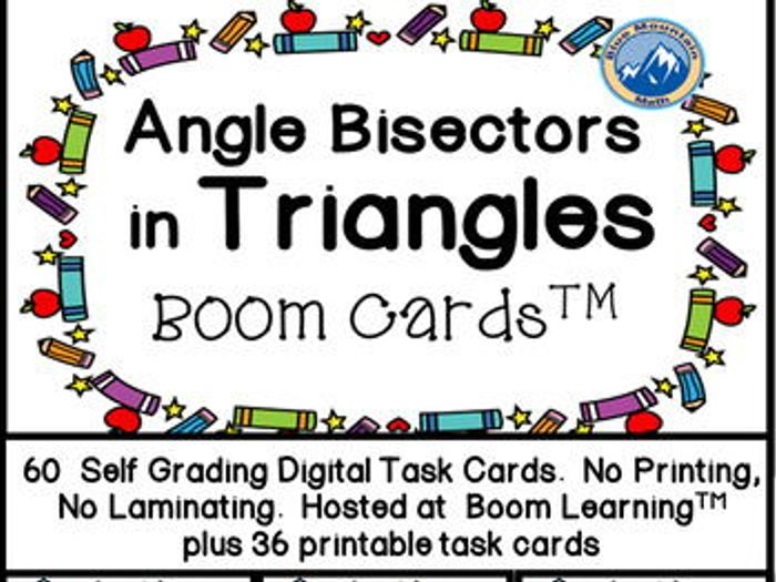 photograph relating to Printable Task Cards named Frame of mind Bisectors inside Triangles Growth Playing cards in addition printable undertaking playing cards
