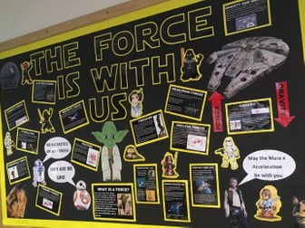 THE FORCE IS WITH US- Star Wars Forces Display